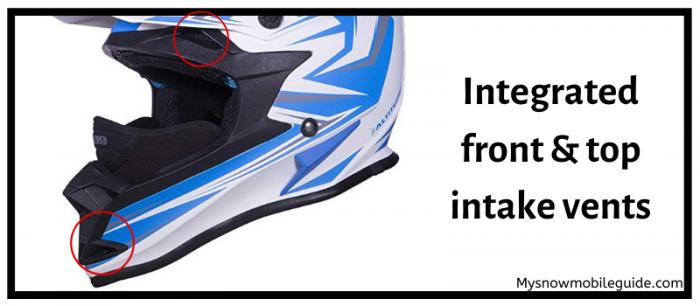 Ventilation at helmet height 509