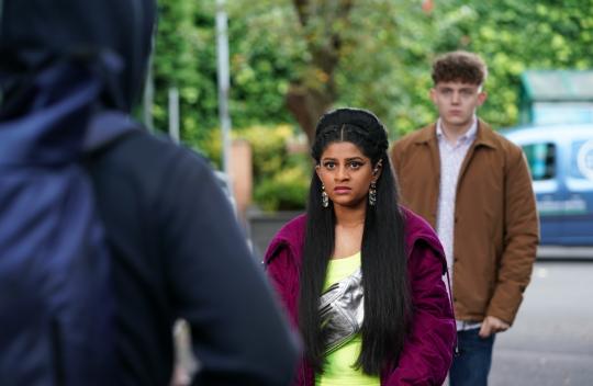 Yazz faces Ste in Hollyoaks