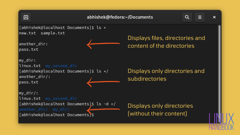 List Only Directories in Linux With ls and Other Commands