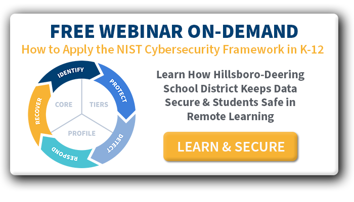 NIST Cybersecurity Detect Function for K-12