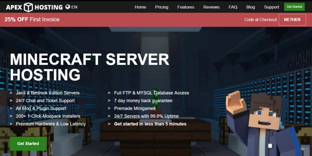 Apex Minecraft Hosting - Hosting of the best Feed The Beast (FTB) server.