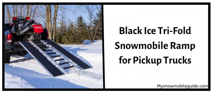 Black ice snowmobile driveway for pickups.