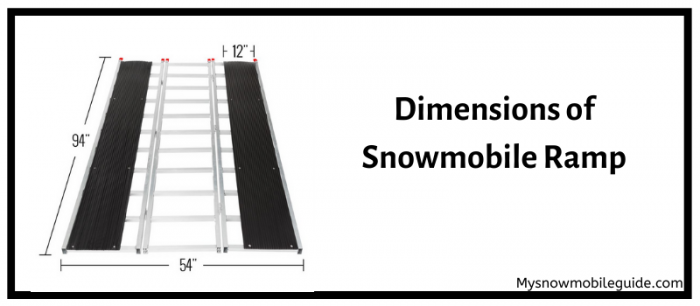 Dimensions loading platform for snowmobiles