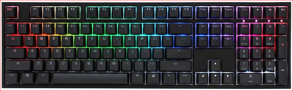 Duckky DKON1808ST single 2 full size RGB MX blue switch