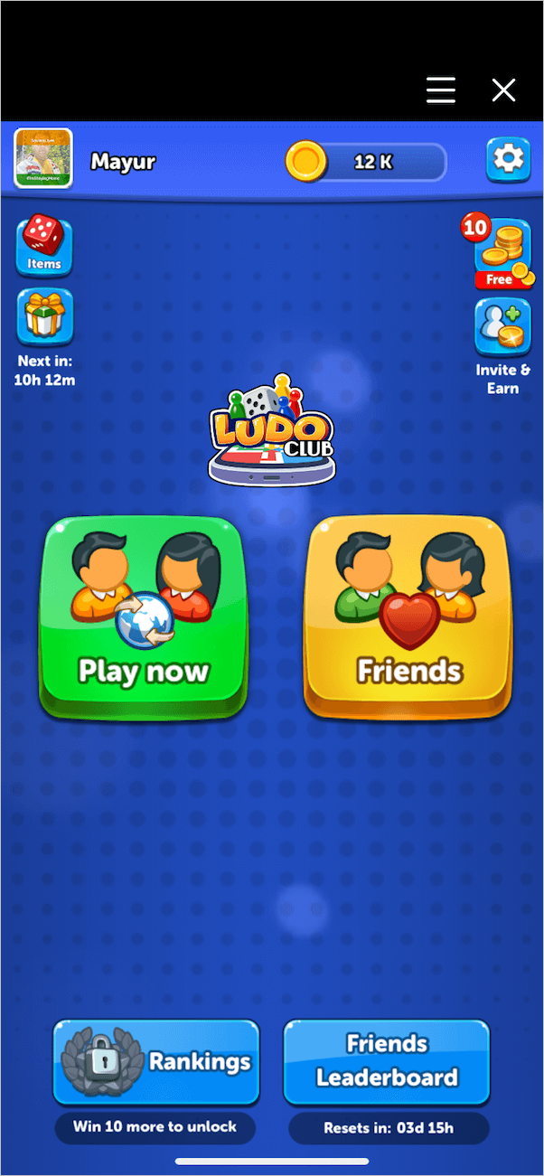 -Game modes in the Ludo game