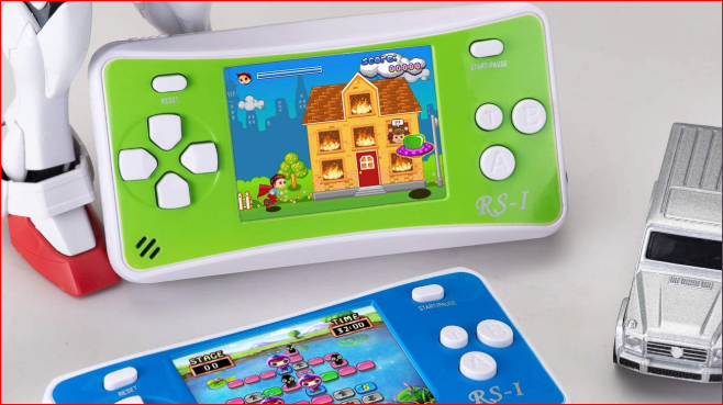HigoKids portable gaming console for kids 8-bit retro video player with 2.5-inch LCD screen 80's and 90's arcade gaming system 152 built-in games