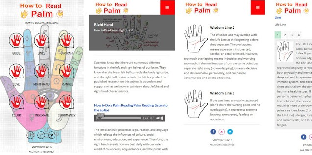 How to read applications How to read the palms of the hands