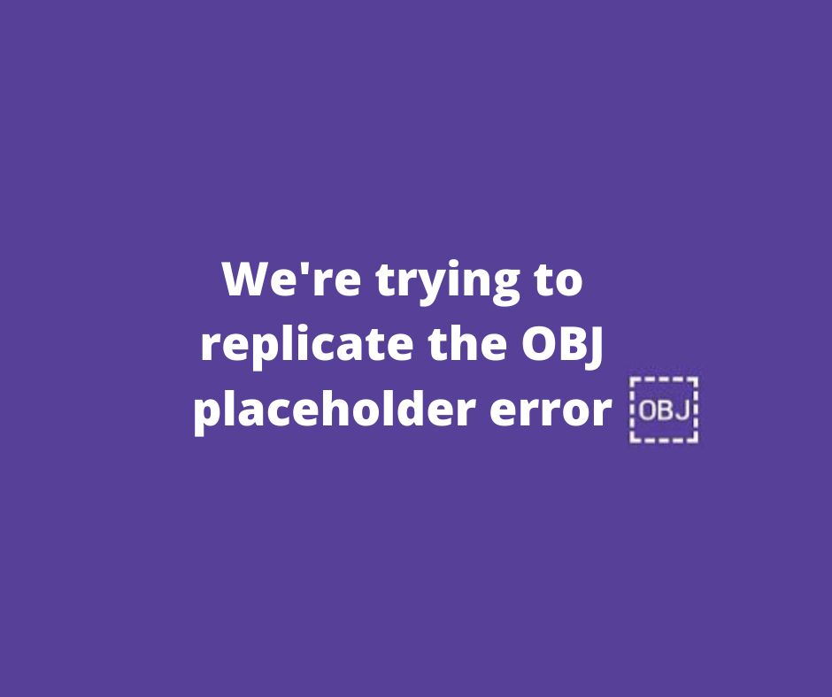 What is OBJ on Facebook? What causes the error?