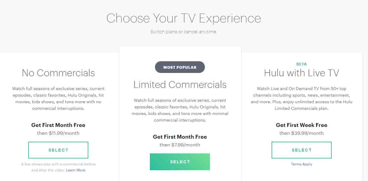 Hulu plus non-contributory accounts