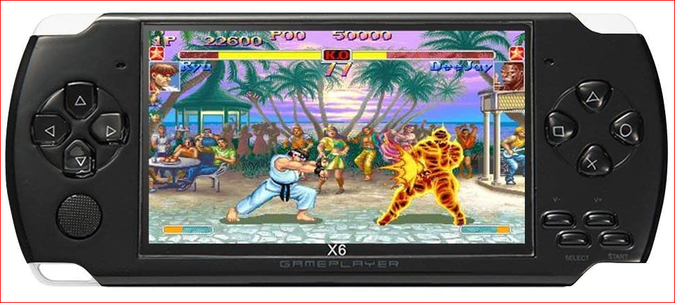 JXD 4.3-inch 8GB portable game console integrated into 1200+Real Video Games for gba gbc SFC fc and SMD games
