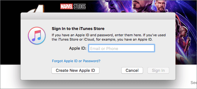Login to the itunes shop