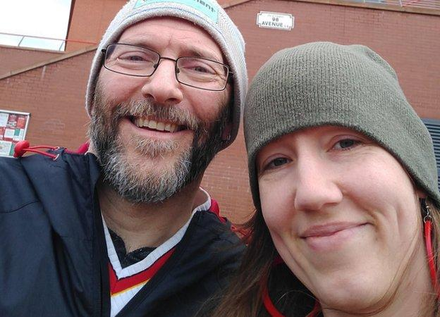 Matthew Spillum and Rinas woman in Enfield