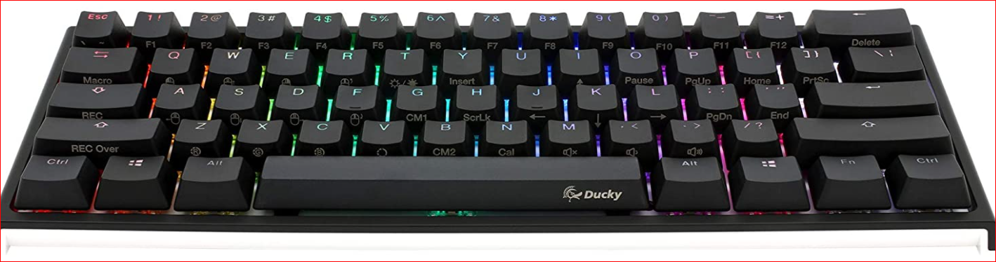 Mini RGB mechanical keyboard with dual LED PBT Ducky One 2