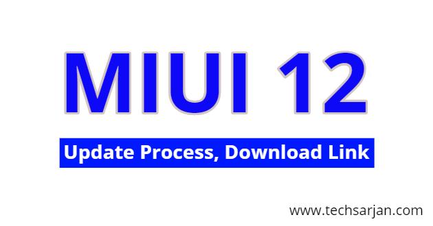 MIUI 12 update in Redmi Mobiles