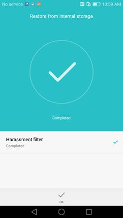 Restoring deleted data from your Huawei phone