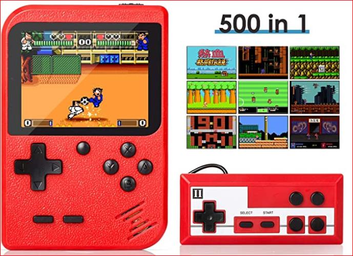 Retro mini-player games with 500 classic FC games