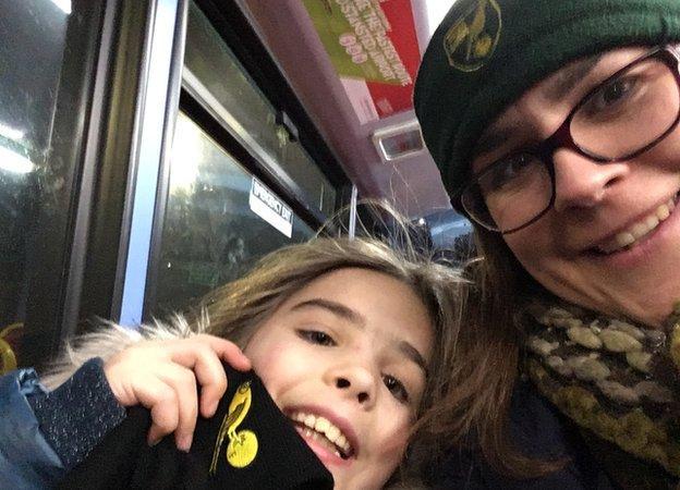 Sarah Greaves with Naomi's daughter
