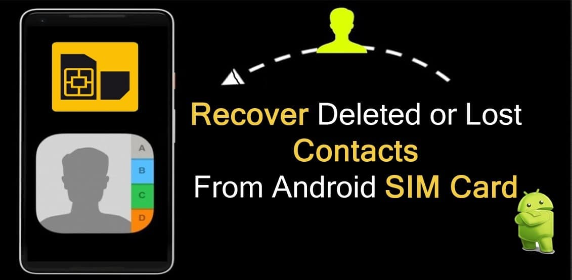 SIM card contacts Restore contacts