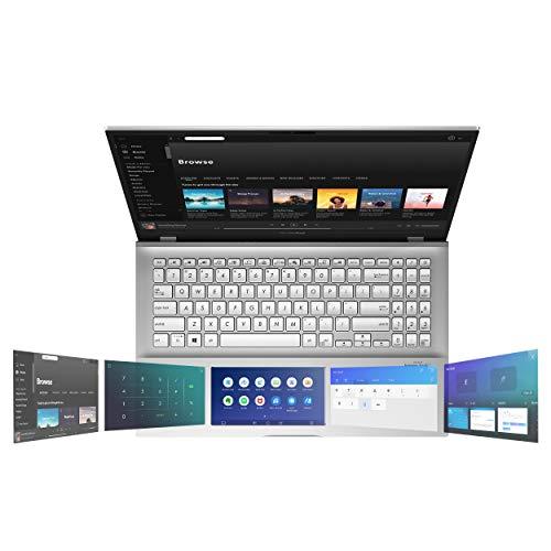 Slim and lightweight Asus Vivobook S15 S532 notebook, 15.6 FHD, Intel Core i5-10210U processor, 8GB DDR4 RAM, 512GB SSD PCIe, Windows 10 Home, IR camera, S532FA-DH55, transparent silver metal