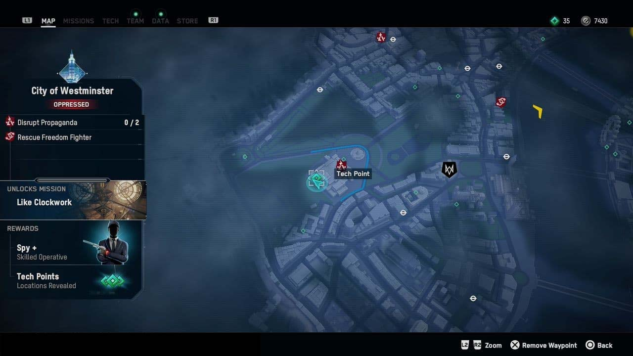 Watch Dogs: Legion – All Tech Point Locations in the City of Westminster