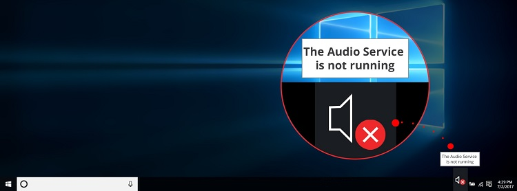 The audio service does not work
