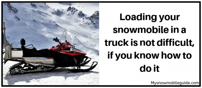 The best loading platforms for snowmobiles