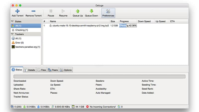 Torrent Client Option for Mac