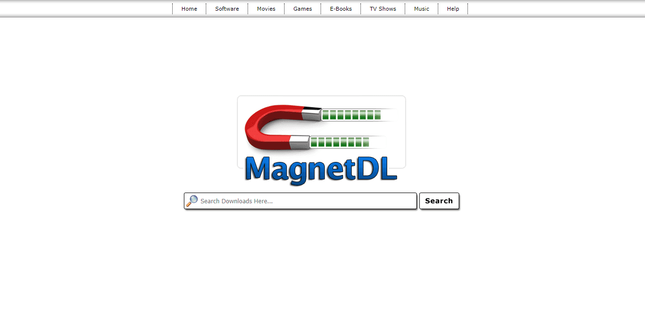 Torrent MagnetDL website