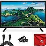 VIZIO D Series 24-inch 1080p class Full HD LED Smart TV (D24F-G1) with integrated HDMI, USB, SmartCast, Voice Control Beam with 6-foot 4K Ultra High Definition HDMI Cable City Circuit and Accessories.