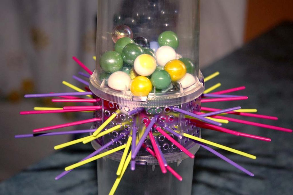 Marble stack of board game Ker Plunk