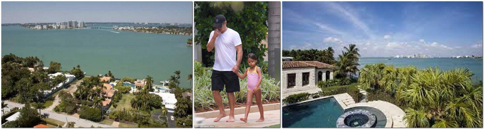 Matt Damon is in Miami, Florida,