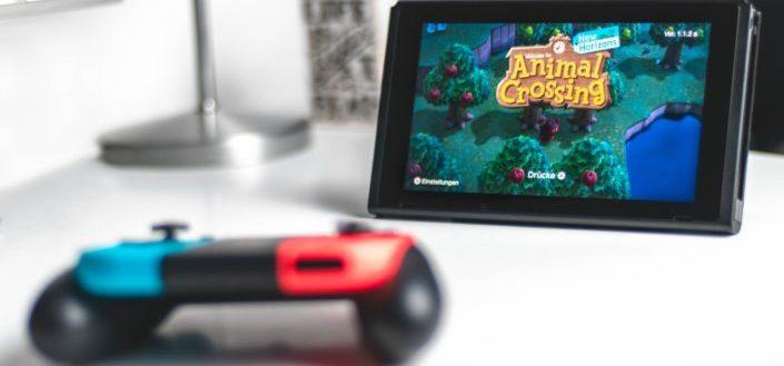 Nintendo Multiplayer game switch for children.