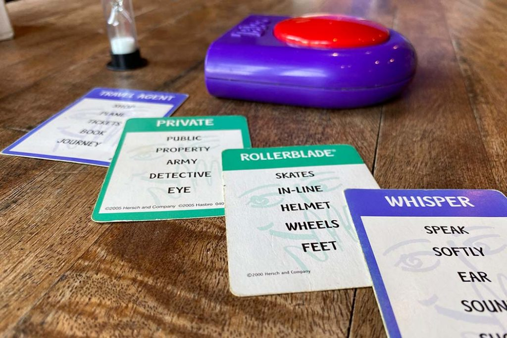 Explanation of the Taboo Board game