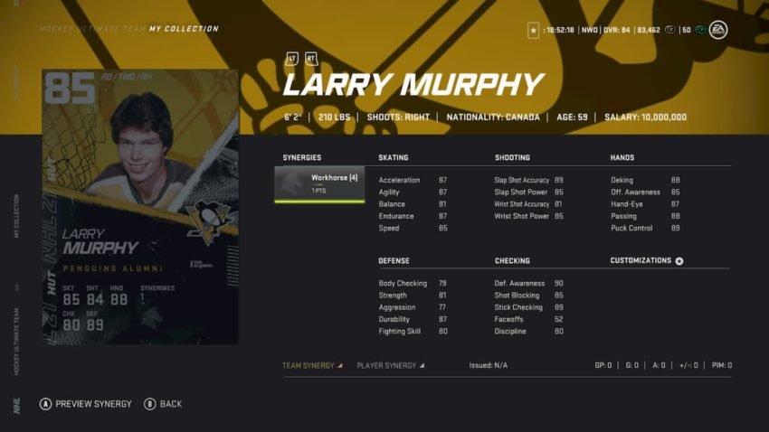 NHL 21: Best HUT Team Building Sets to complete