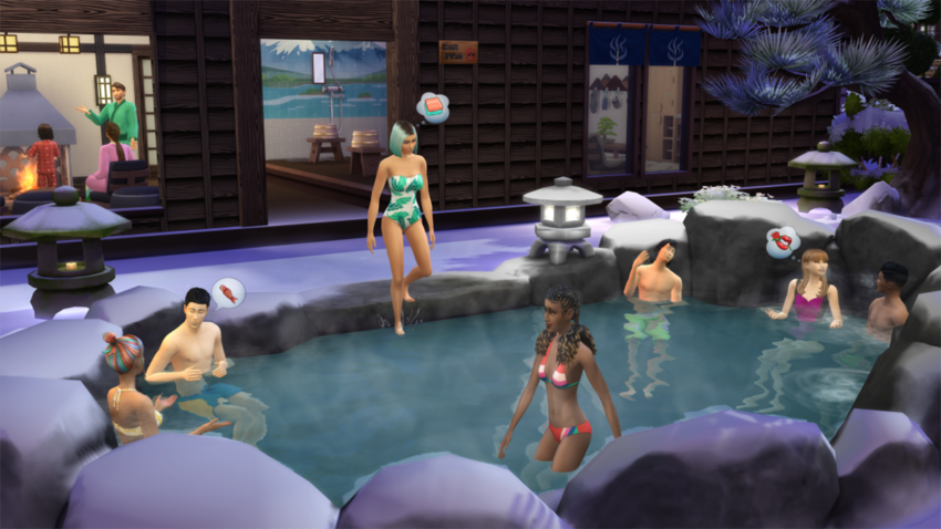 Release date and details for the new world in The Sims 4's Snowy Escape expansion
