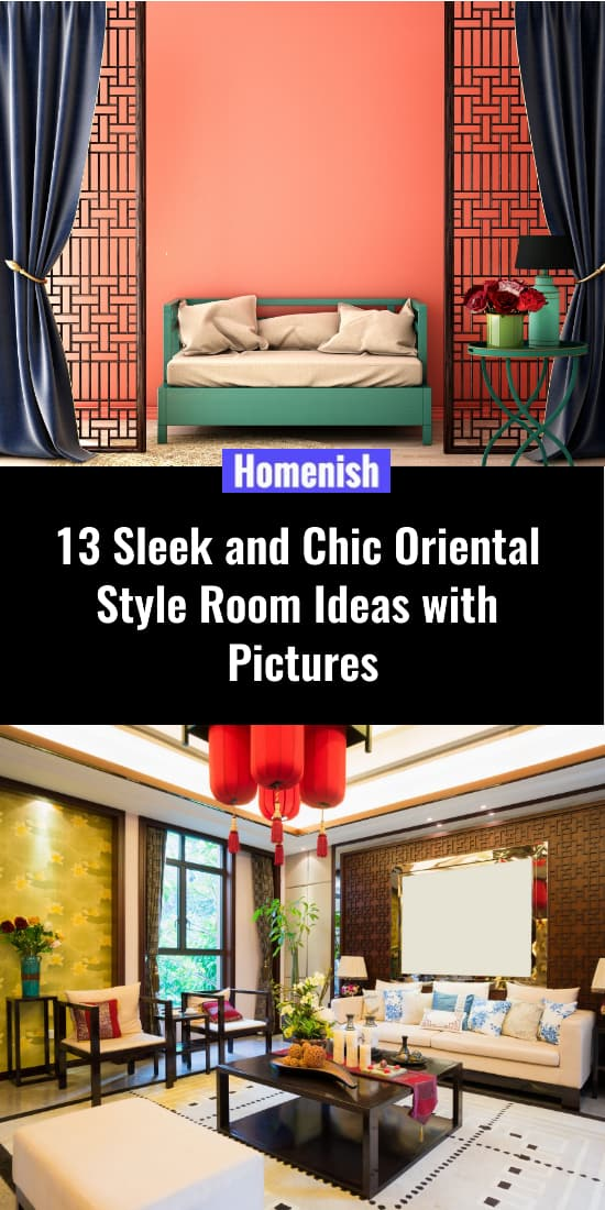 13 Ideas for simple and chic rooms in oriental style with photos