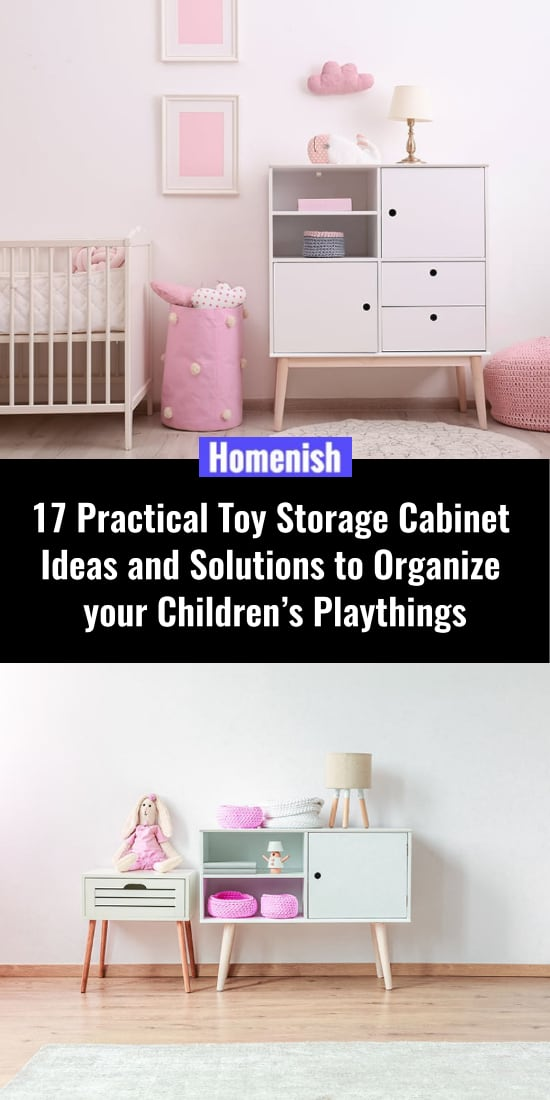 17 Practical ideas and solutions for a toy cabinet for children's play equipment