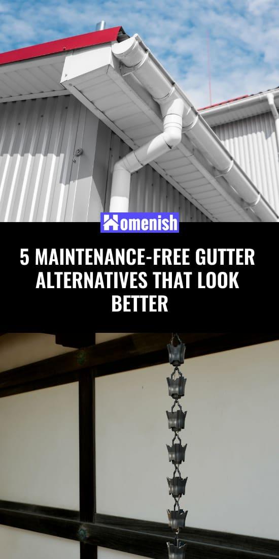 5 maintenance-free gutter alternatives that look better.