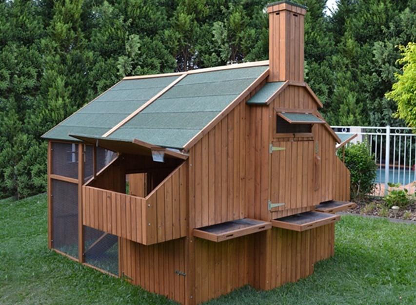 a mansion in a chicken coop
