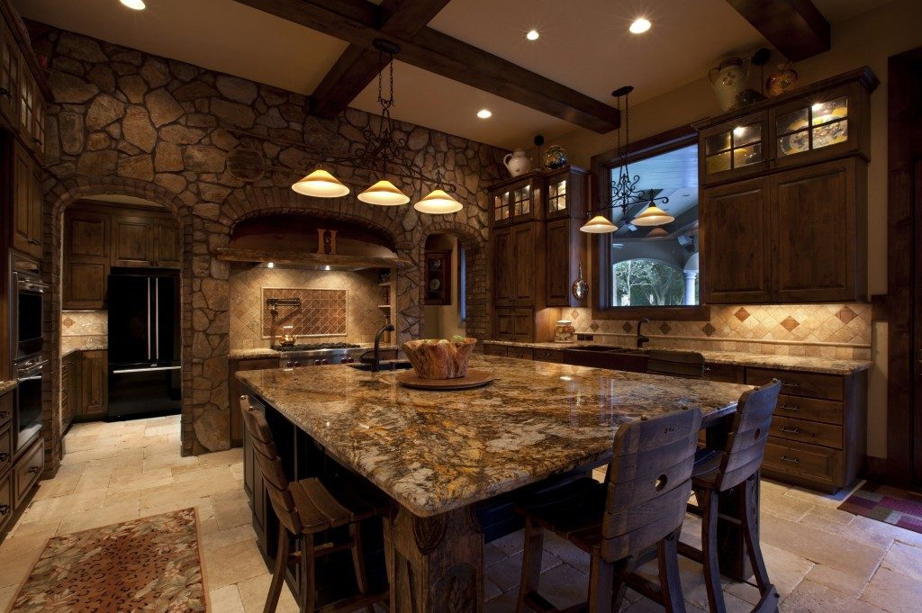A rustic kitchen made to measure