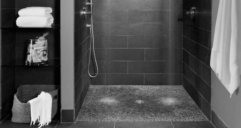 A shower without limits and without a glass door
