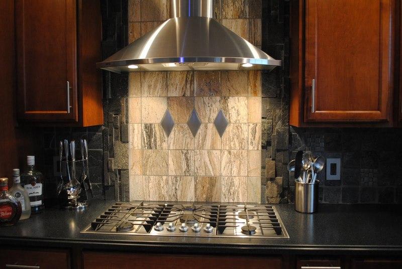 An idea for a dark, stone kitchen