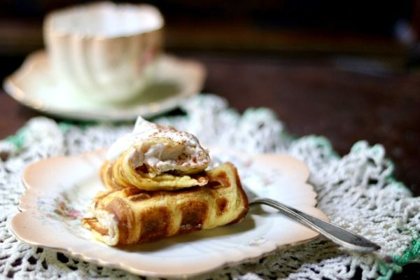Bavarian waffles with filling