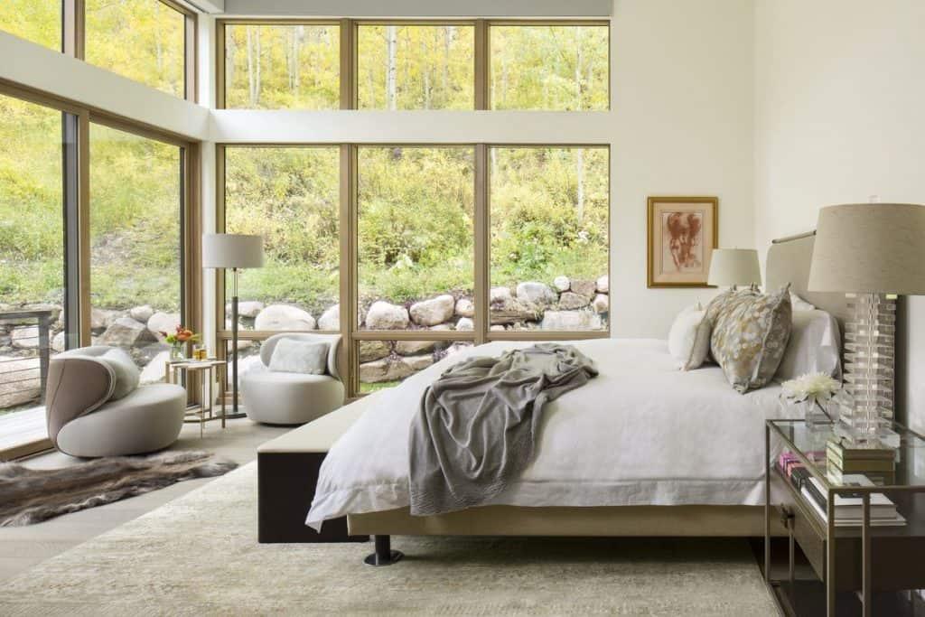 Beautiful inner garden Bedroom windows (on: deringhall.com)