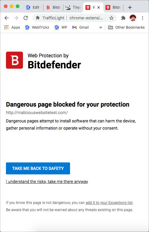 Bitdefender Security Alert