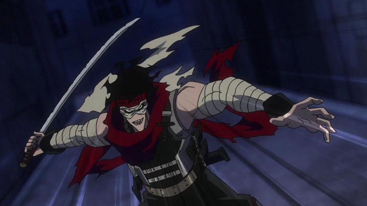 Blurred from the anime My Hero Academy.
