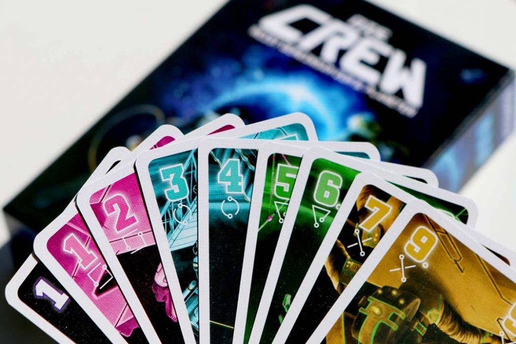 Board game cards for crews