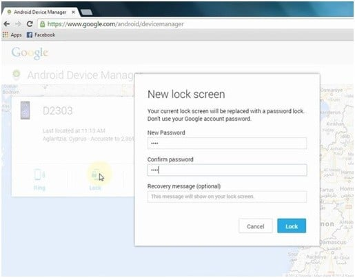 Bypassing the LG screen lock with Android Device Manager