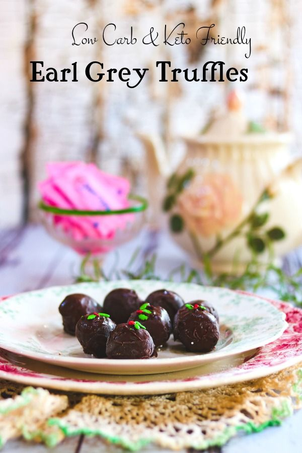 Earl Grey Chocolate Truffles Recipe: Low Carb Snack
