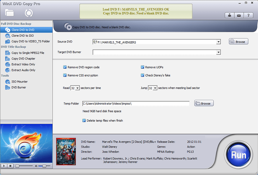 Cloning from DVD to DVD